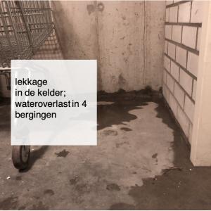 2021-01-29, lekkage in de kelder - wateroverlast in 4 bergingen - deBergen5.nl