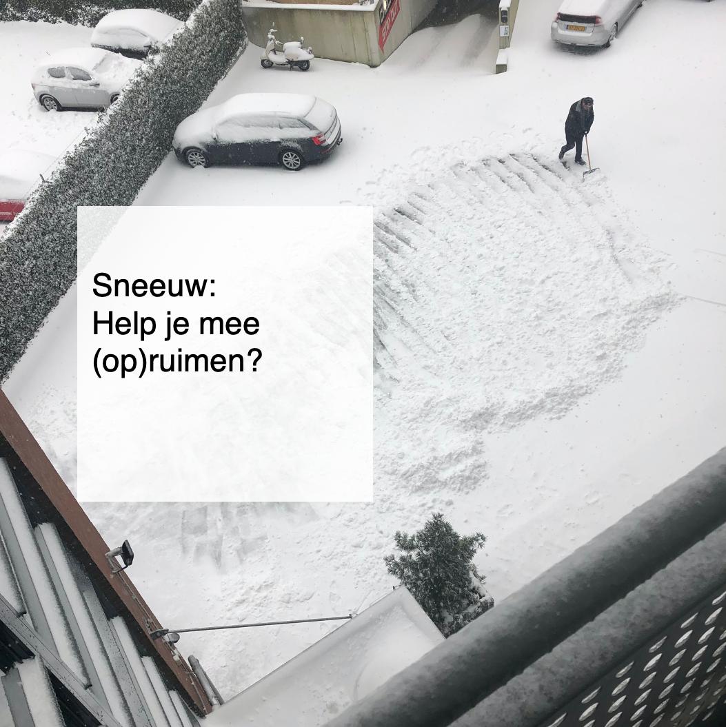 sneeuw help je mee opruimen - deBergen5.nl